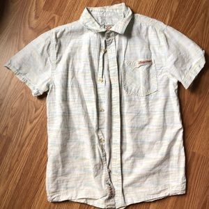 Boys lucky brand western camp shirt medium